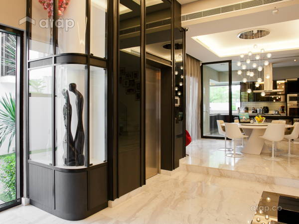 Contemporary Modern Foyer Living Room@Mont Kiara Semi-D