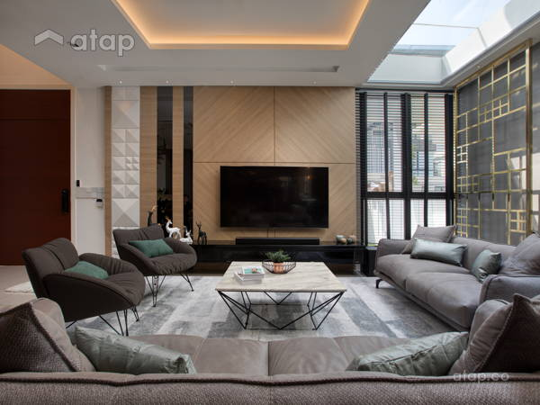Contemporary Modern Living Room@Sierra 6 Puchong