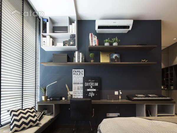 Malaysia Neutral Modern Study Room architectural interior design