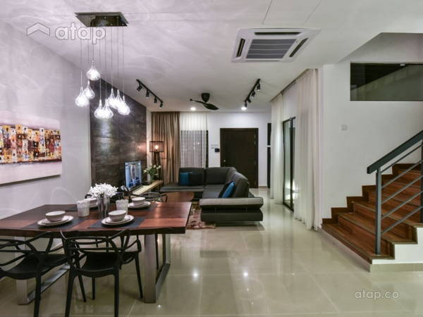 Contemporary Modern Living Room Dining Bandar Kinrara 9 Moonlit Inspiration