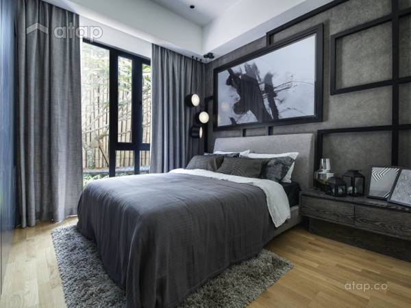 Malaysia Blue Rustic Bedroom Architectural Interior Design Ideas