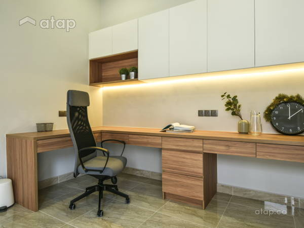 Malaysia Neutral Modern Study Room architectural & interior design ...