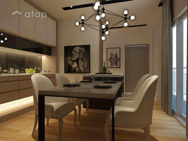 Minimalistic Modern Dining Room@Maisson Condo @ Ara Damansara
