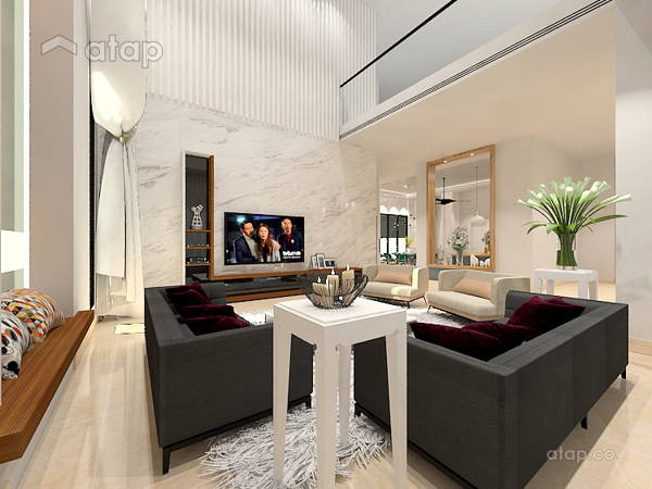 Modern Living Room@PERDANA HEIGHT SHAH ALAM BUNGALOW HOUSE