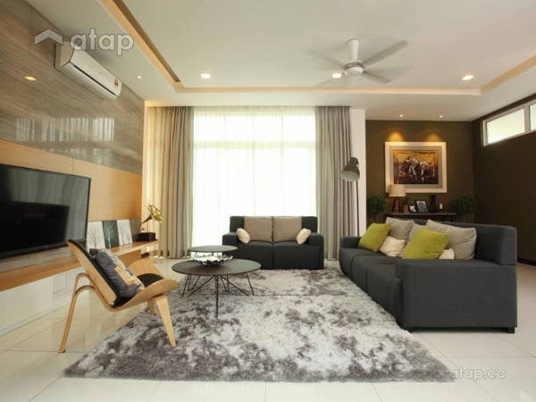 Malaysia White Living Room Architectural Interior Design Ideas In