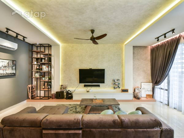 Industrial Modern Living Room@Temasya Glenmarie