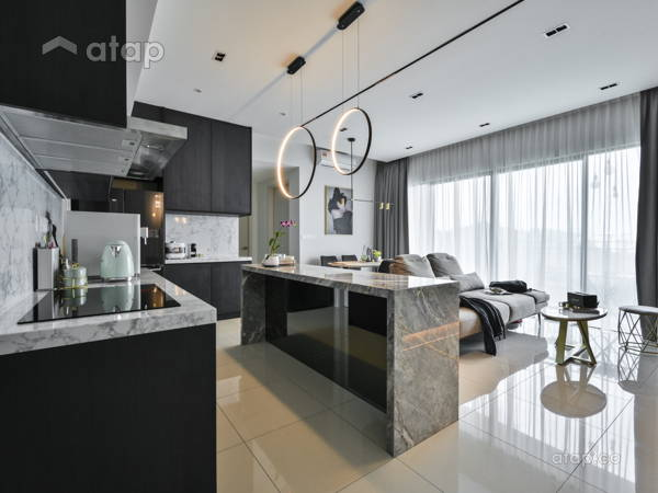 Minimalistic Modern Dining Room Living Room@Sunway Mont Condo