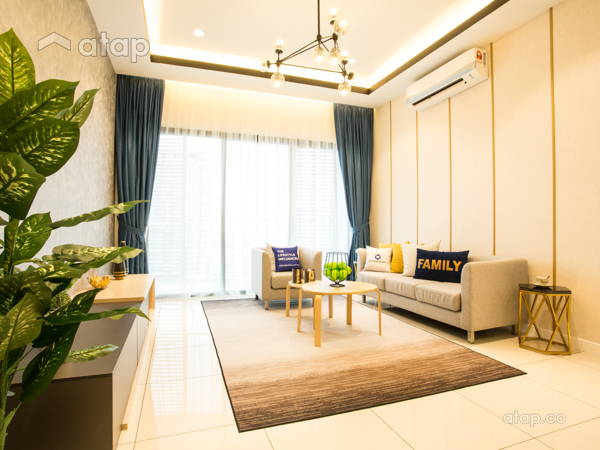Contemporary Modern Living Room@Sky Condo Puchong, Type B