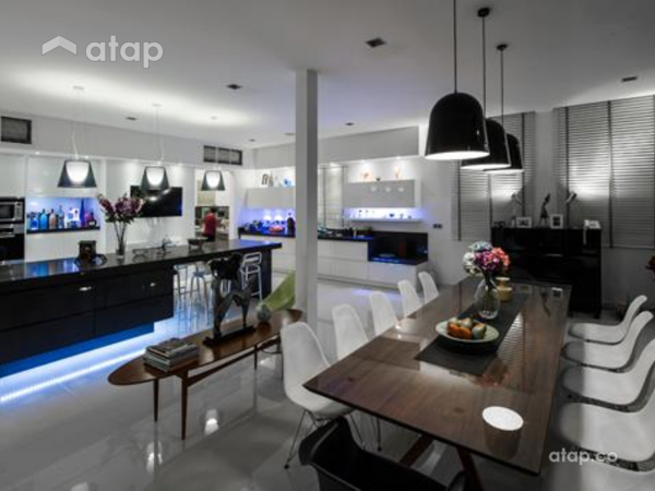Contemporary Modern Dining Room Kitchen@M Residence, Bukit Jelutong