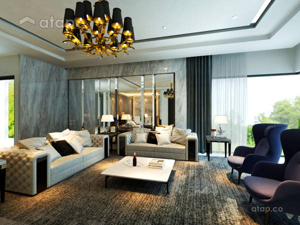 Classic Modern Living Room@Taman Lake View House