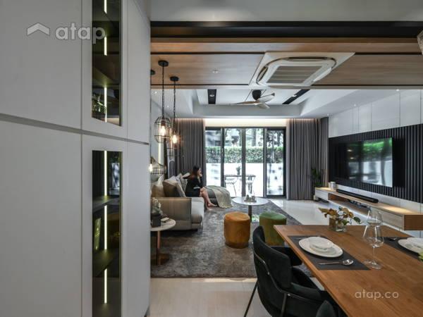 Minimalistic Scandinavian Dining Room Living Room@<Pristine Representation> @ Zenia Residences, Desa Park City