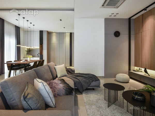 Contemporary Modern Living Room@The perfect crush- Semi-D, Perak