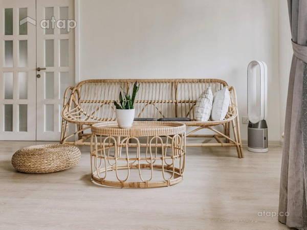 Asian Contemporary Living Room@Cozy Bohemian Home