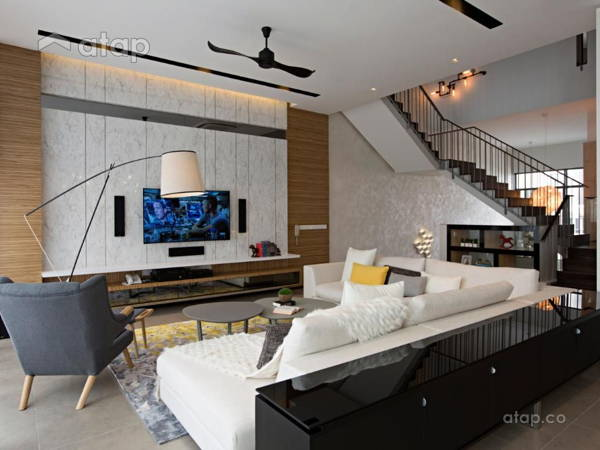 Contemporary Modern Living Room@The Mansions A