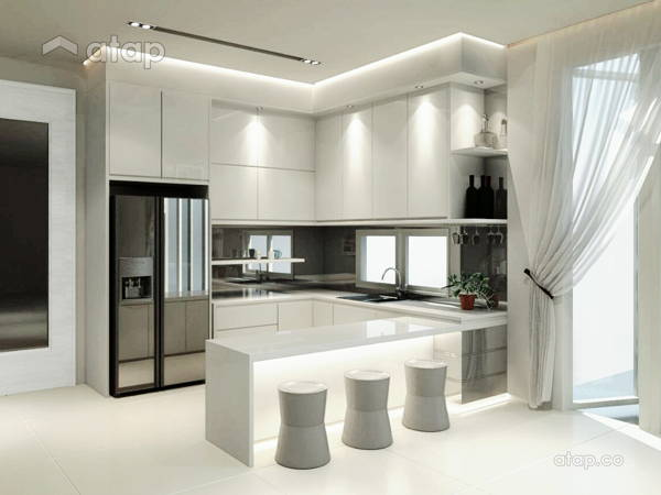 Contemporary Kitchen@Contemporary Design @ Kayangan Height Bangalow