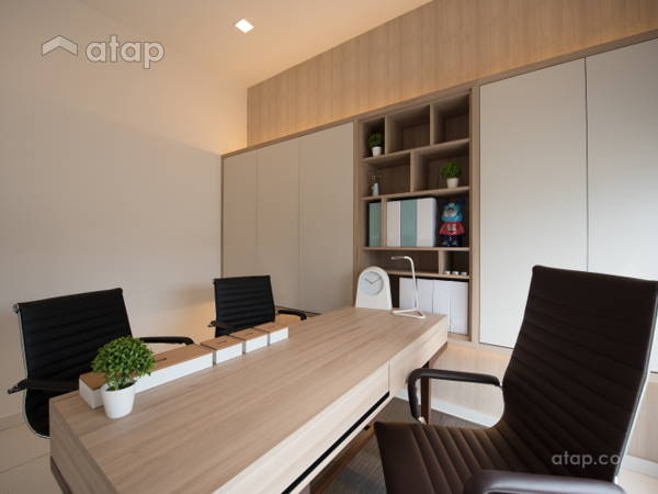 Contemporary Modern Study Room @ Acacia 3B Show Unit For Lowyat Group ·  Solid Design Studio