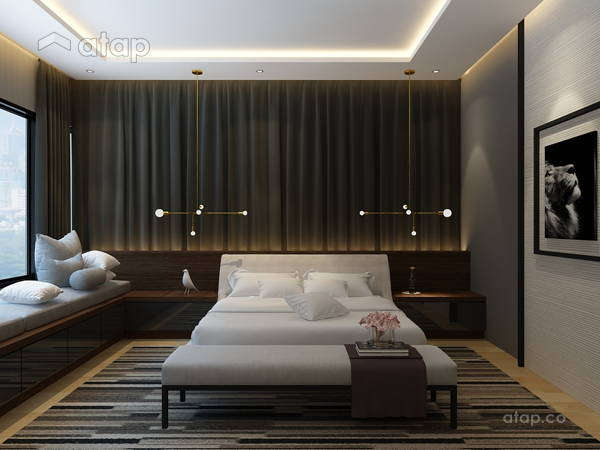 Contemporary Rustic Bedroom@Double Storey House @ Bukit Prima