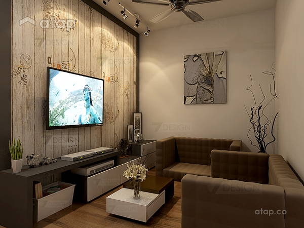Contemporary Minimalistic Living Room@Hostel@Subang Bestari