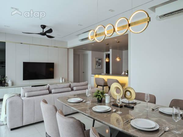 Contemporary Modern Dining Room Living Room@Casual Elegance