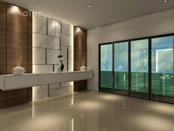 Contemporary Modern Foyer@3 Storey Bungalow @ KL