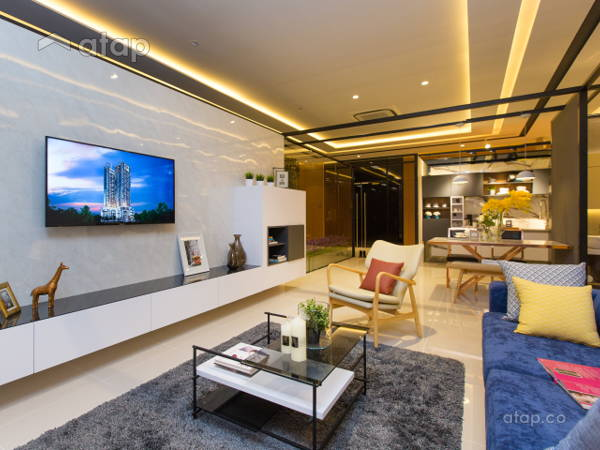 Contemporary Modern Living Room@The Haute Show Unit