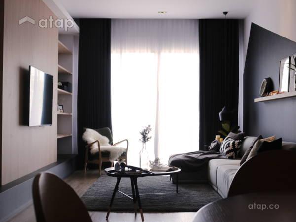 Contemporary Scandinavian Living Room@King Ong House