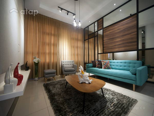 Contemporary Modern Living Room@IOI Palmyra Residence