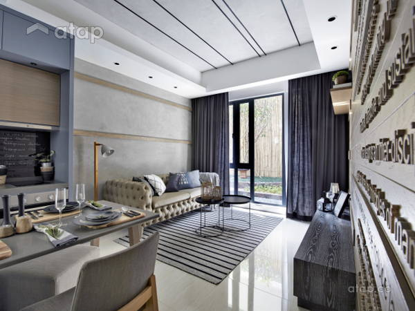 Contemporary Rustic Living Room@Sentral Suites Type B