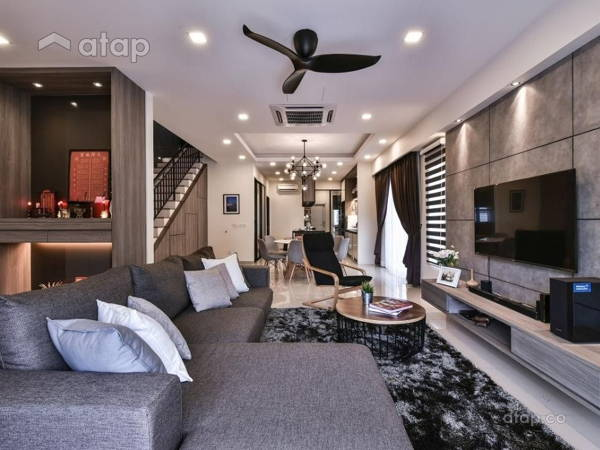 Contemporary Modern Living Room@Setia Indah