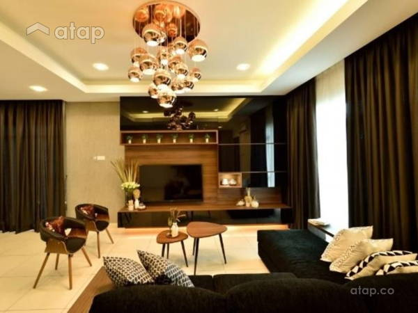 Contemporary Modern Living Room@Serene Residence Rawang RT2