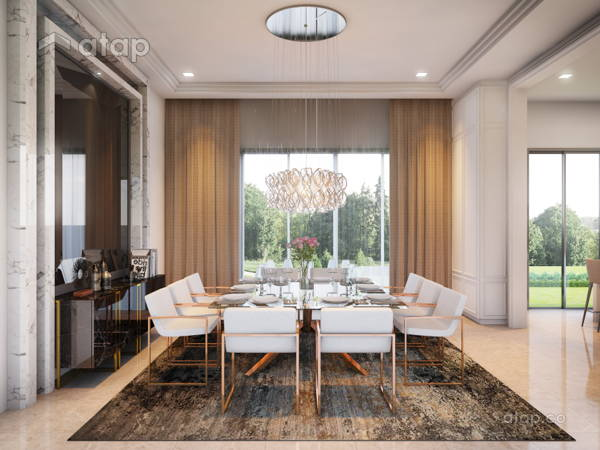 Contemporary Modern Dining Room@Bungalow Jalan Topaz