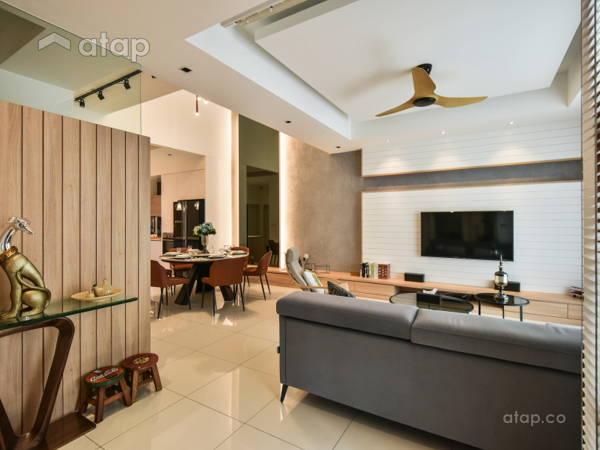 Modern Scandinavian Foyer Living Room@Parkfield Residences @ Tropicana Height Kajang