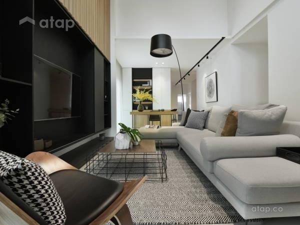 Contemporary Foyer Living Room@Sejati House - Semi-D at Sitiawan, Perak