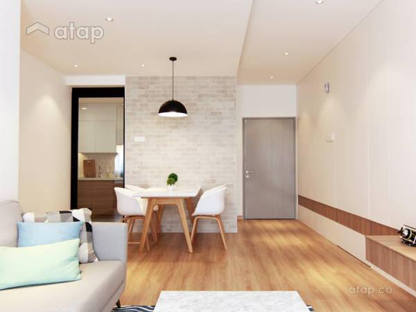 Contemporary Zen Dining Room Living Room @ Dwiputra Residence ...