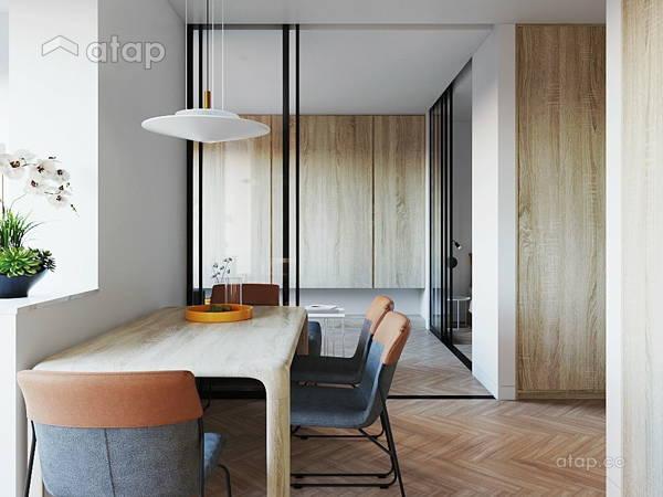 Minimalistic Zen Dining Room Living Room@Studio, Petaling Jaya, Selangor.