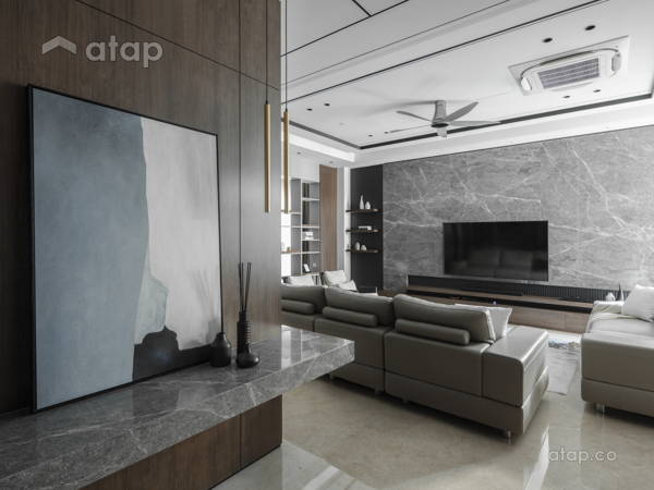 Contemporary Modern Foyer Living Room@The Modern Grandeur - Tiara Hills