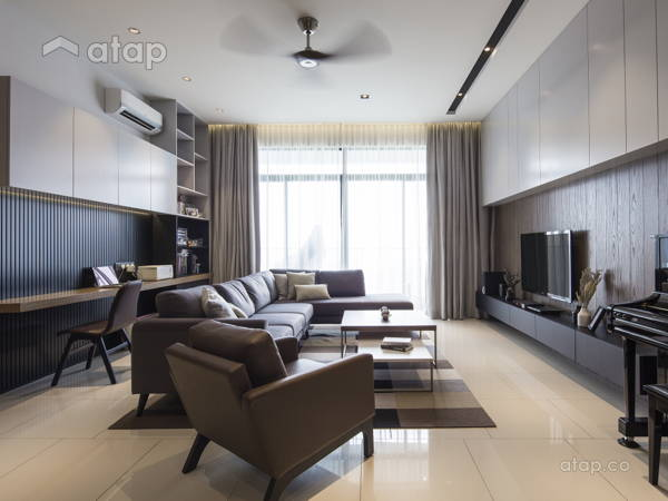 Contemporary Modern Living Room Study Room @ Puteri Hills, Puchong · Box  Design Studio