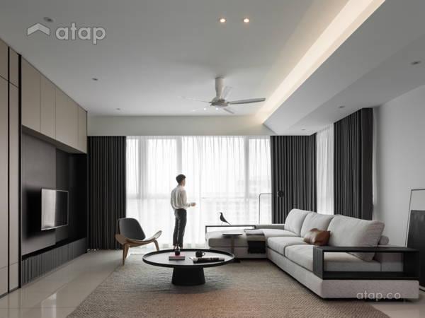 Minimalistic Modern Living Room@SERENITY - Condominium, petaling jaya
