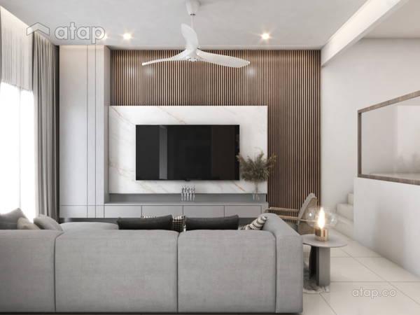 Contemporary Zen Living Room@Taman Desa 3 Storey Terrace
