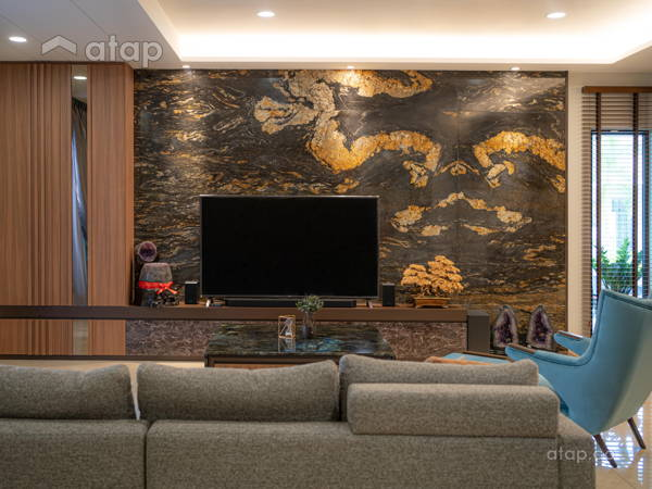 Contemporary Modern Living Room@Sutera One's Residence