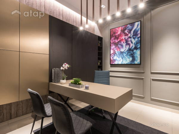 Classic Contemporary Study Room Quatro Homes For Lowyat Group Solid Design Studio