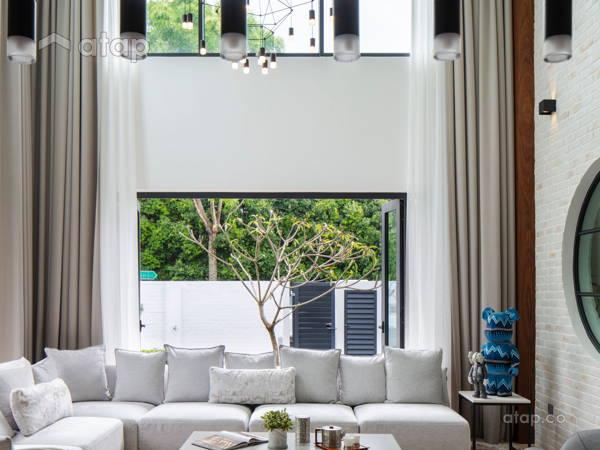 Contemporary Modern Dining Room Living Room@Kokoro @ Alam Impian