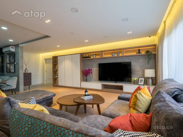 Contemporary Living Room@Posh &  Polished : State-Of-The-Art Residence