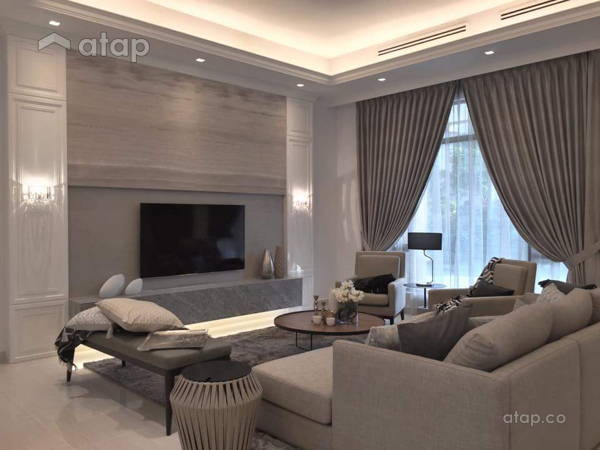 Malaysia Bungalow Living Room Architect Interior Designer