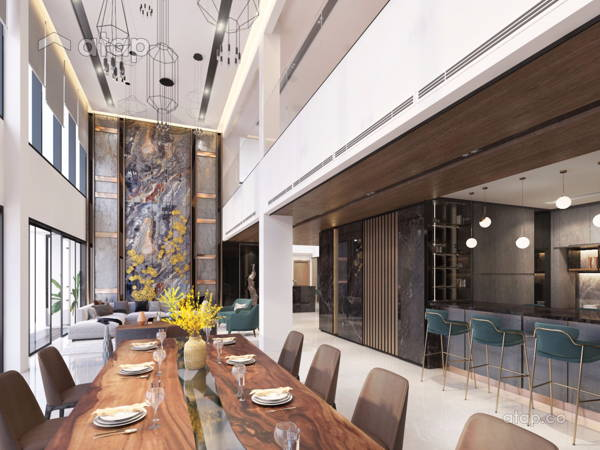 Contemporary Modern Dining Room@Seni Mont Kiara Pent House