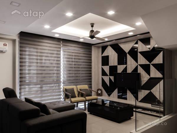 Contemporary Modern Family Room Living Room@Modern Contemporary Interior @ Canary Residence, K.L