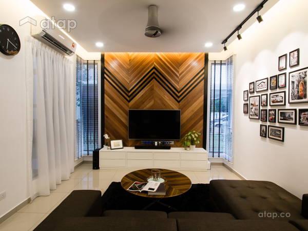 Minimalistic Industrial Living Room@J Residence