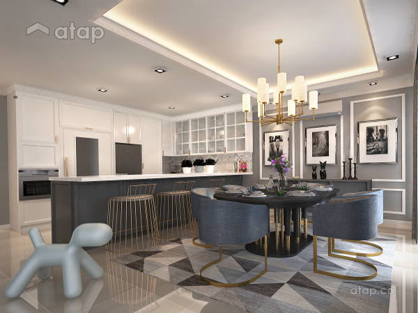 Classic Modern Dining Room Kitchen@Armanee Terrace ll