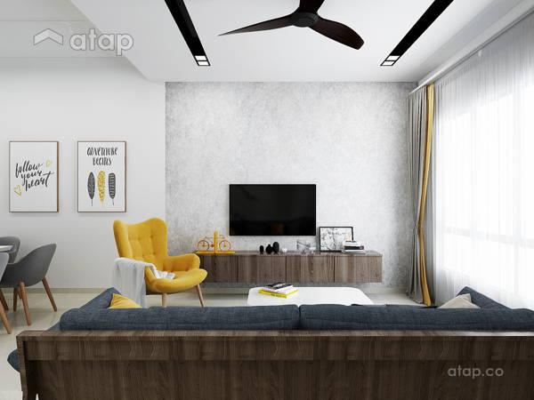 Contemporary Scandinavian Living Room@LIVIA RESIDENCE, BANDAR RIMBAYU