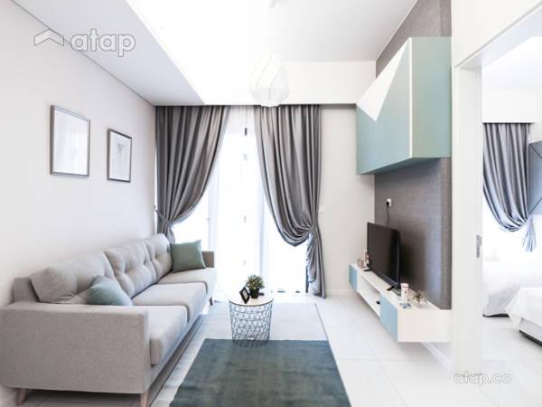 Minimalistic Scandinavian Bedroom Living Room@Tribeca Suites @ Bukit Bintang
